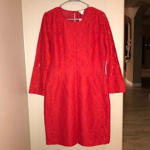 J. Crew Dresses - J. Crew Red Lace Dress